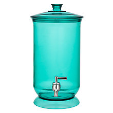 Buy John Lewis Summer Palm Drinks Dispenser, Aqua Online at johnlewis.com