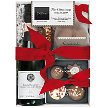 Buy Hotel Chocolat Christmas Collection with Sparkling Pink Rosé, 190g Online at johnlewis.com