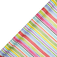 Buy John Lewis Chalky Stripe Gift Wrap, 3m Online at johnlewis.com