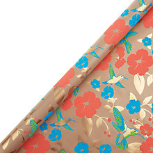 Buy Vivid Wrap Hummingbird and Coral Floral Gift Wrap, 2 Sheets Online at johnlewis.com