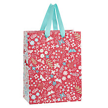 Buy John Lewis Butterfly Ditsy Leaf Gift Bag, Small Online at johnlewis.com