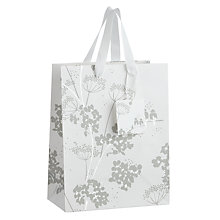 Buy John Lewis Silver Birds Gift Bag, Small Online at johnlewis.com