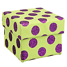 Buy Vivid Wrap Funky Spot Gift Box, Lime Green/Purple, Small Online at johnlewis.com