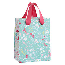 Buy John Lewis Butterfly Ditsy Leaf Gift Bag, Mini Online at johnlewis.com