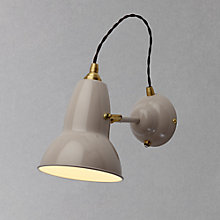 Buy Anglepoise Original 1227 Brass Wall Light, Light Taupe Online at johnlewis.com