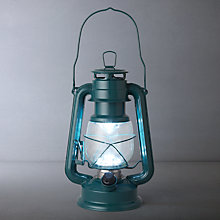 Buy John Lewis Vermont LED Lantern, Lake Blue Online at johnlewis.com