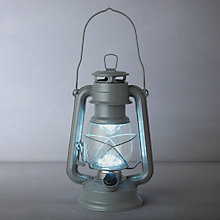 Buy John Lewis Croft Vermont LED Lantern, Blue Online at johnlewis.com