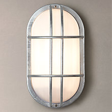Buy Garden Trading Company St Ives Bulkhead Galvanised Outdoor Light Online at johnlewis.com