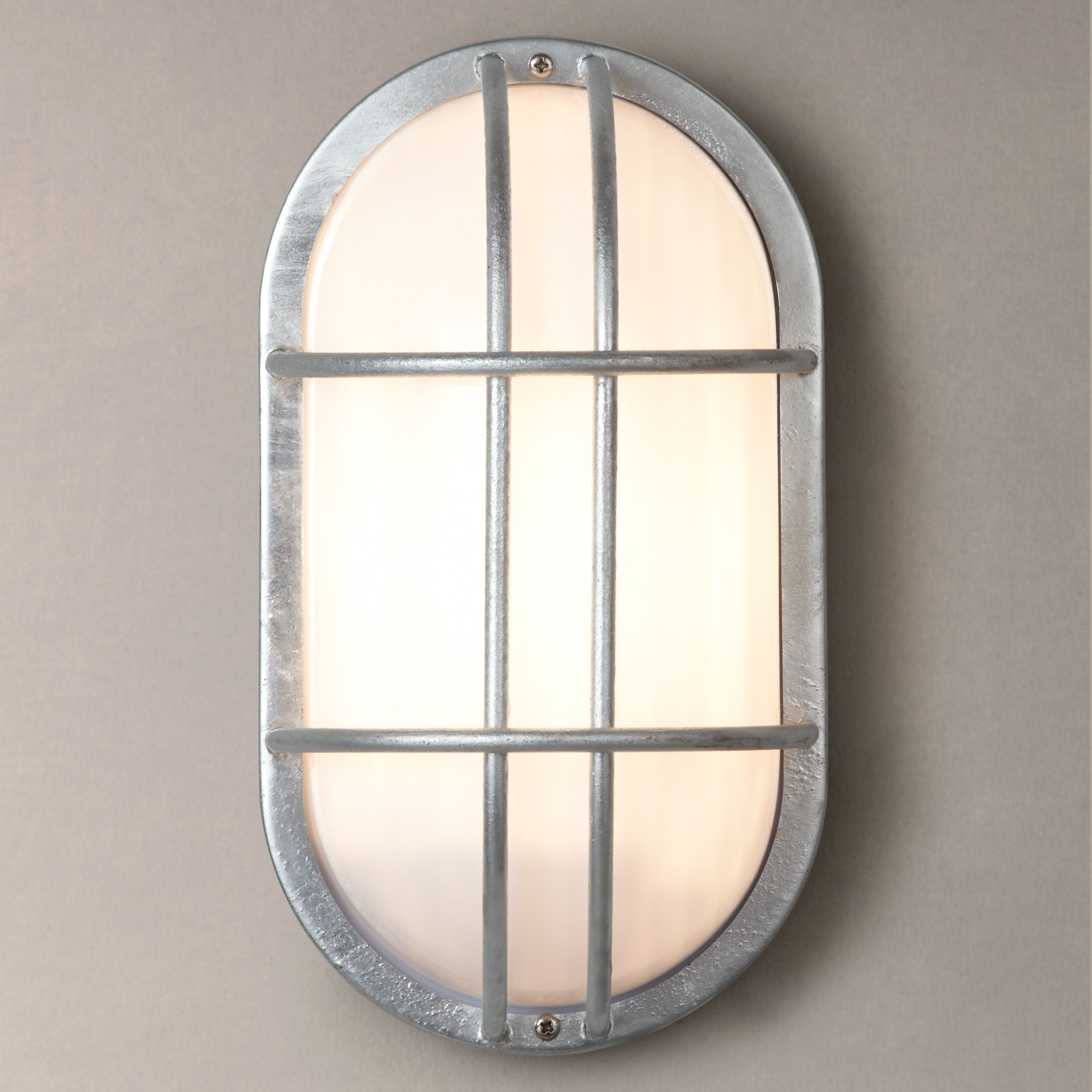 Garden Trading Outdoor Wall Lights : Buy Garden Trading St Ives Bulkhead Galvanised Outdoor Light John Lewis