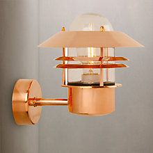 Buy Nordlux Blokhaus Copper Outdoor Wall Light Online at johnlewis.com