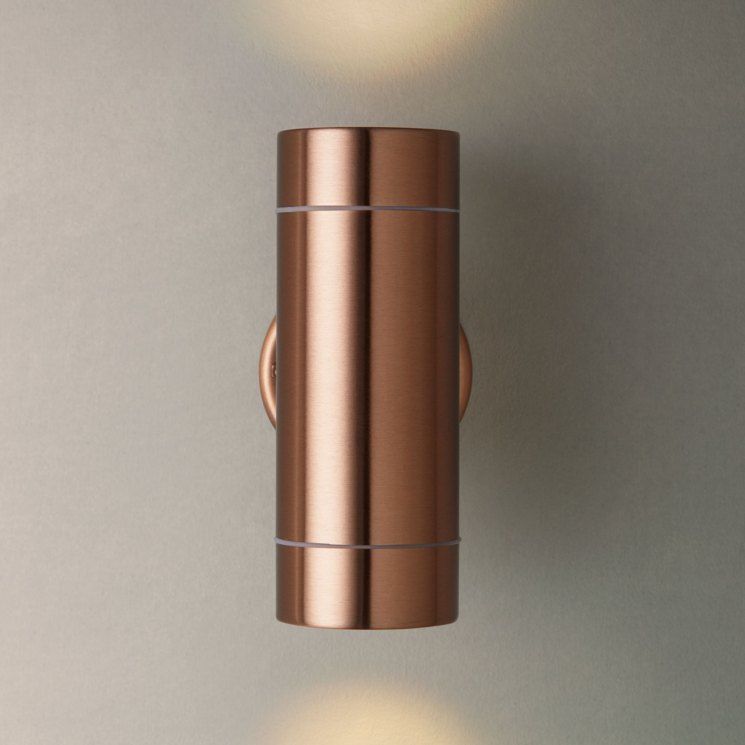 Buy John Lewis Sabrebeam Outdoor Double Wall Light, Copper John Lewis