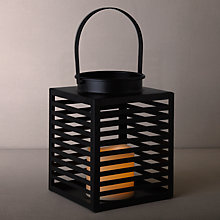Buy John Lewis Square Lattice LED Lantern, Small, Black Online at johnlewis.com