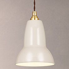 Buy Anglepoise Original 1227 Pendant, Small, Taupe/Brass Online at johnlewis.com