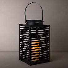 Buy John Lewis Square Lattice LED Lantern, Large, Black Online at johnlewis.com