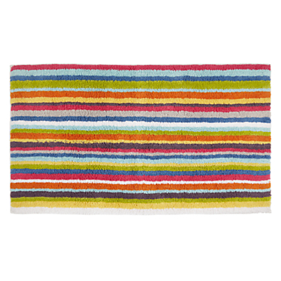John Lewis Reversible Stripe Bath Mat, Large