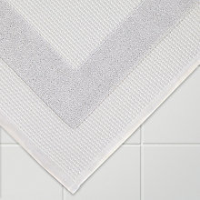 Buy John Lewis Croft Collection Waffle Bath Mat, Silver Grey Online at johnlewis.com