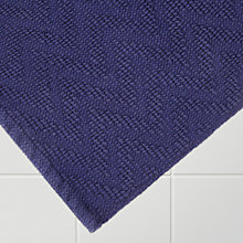 Buy John Lewis Chevron Bath Mat, Indigo Online at johnlewis.com