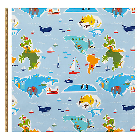 Buy little home at john lewis globe trotter furnishing for Children s furnishing fabrics