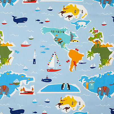 Image of little home at John Lewis Globe Trotter PVC Tablecloth Fabric, Multi