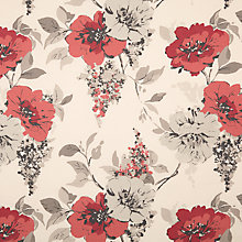 Buy John Lewis Audley Curtain, Red Online at johnlewis.com