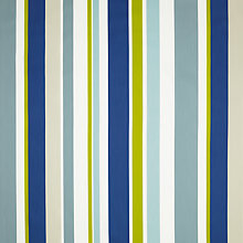 Buy little home at John Lewis Harrison Stripe Curtain, Blue / Green Online at johnlewis.com