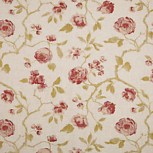 Buy John Lewis Linen Rose Curtain, Raspberry Online at johnlewis.com