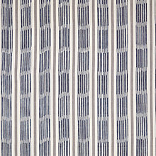 Buy John Lewis Woven Ikat Stripe Curtain, Indian Blue Online at johnlewis.com