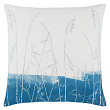 Buy John Lewis Croft Collection Grasses Cushion, Lake Blue Online at johnlewis.com