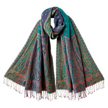 Buy East Kingfisher Wool Shawl, Multi Online at johnlewis.com