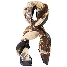 Buy Chesca Autumn Printed Scarf, Ochre/Brown Online at johnlewis.com
