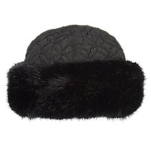 Buy Chesca Faux Fur Trim Quilted Hat Online at johnlewis.com