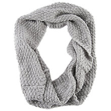 Buy Chesca Knitted Sequins Snood, Grey Online at johnlewis.com