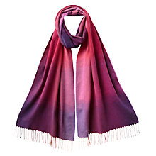 Buy East Ombre Check Scarf, Pansy Online at johnlewis.com