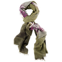 Buy Chesca Scenic Scarf, Green/Violet Online at johnlewis.com