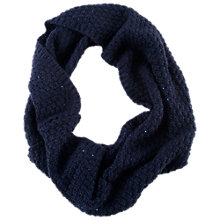 Buy Chesca Knitted Sequin Snood, Sapphire Online at johnlewis.com