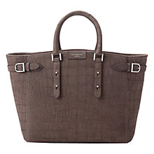 Buy Aspinal of London Marylebone Tech Leather Tote Bag, Grey Croc Online at johnlewis.com