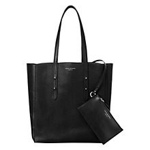 Buy Aspinal of London Essential Leather Tote Bag, Black Online at johnlewis.com