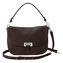 Buy Aspinal of London Large Leather Saddle Bag Online at johnlewis.com