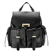 Buy Aspinal of London Nappa Leather Rucksack Bag, Black Online at johnlewis.com