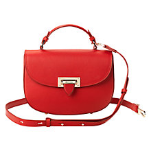 Buy Aspinal of London Letterbox Leather Saddle Bag Online at johnlewis.com