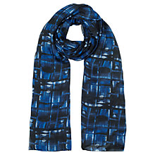 Buy Jigsaw Check Scarf, Ocean Blue Online at johnlewis.com