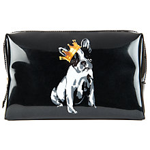 Buy Ted Baker Cotton Dog Large Wash Bag, Black Online at johnlewis.com