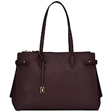 Buy Jaeger Maddison Leather Double Zip Shoulder Bag Online at johnlewis.com