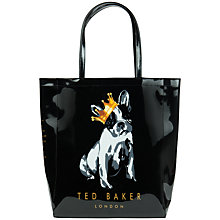 Buy Ted Baker Roycon Large Cotton Dog Print Shopper Bag Online at johnlewis.com