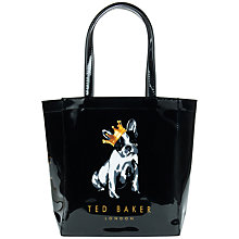 Buy Ted Baker Kincon Small Icon Cotton Dog Shopper Bag Online at johnlewis.com