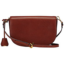 Buy Jaeger Aster Leather Across Body Bag, Chestnut Online at johnlewis.com