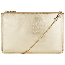 Buy COLLECTION by John Lewis Lizard Clutch Bag, Gold Online at johnlewis.com