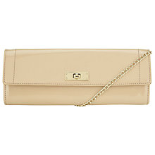 Buy COLLECTION by John Lewis Patent Clutch Bag, Cream Online at johnlewis.com