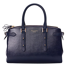 Buy Aspinal of London Brook Street Top Handle Grab Bag, Navy Online at johnlewis.com
