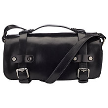 Buy Collection WEEKEND by John Lewis Neve Leather Barrel Bag, Black Online at johnlewis.com